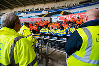 Stewards briefing <br /> Re: Behind the Scenes Photographs at the Liberty Stadium ahead of and during the Premier League match between Swansea City and Bournemouth at the Liberty Stadium, Swansea, Wales, UK. Saturday 25 November 2017