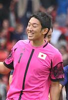 Men's Olympic Football match Spain v Japan on 26.7.12...Shuichi Gonda of Japan, during the Spain v Japan Men's Olympic Football match at Hampden Park, Glasgow..........