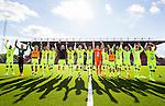 S&ouml;dert&auml;lje 2015-06-21 Fotboll Superettan Assyriska FF - J&ouml;nk&ouml;pings S&ouml;dra IF :  <br /> J&ouml;nk&ouml;ping S&ouml;dras spelare jublar framf&ouml;r J&ouml;nk&ouml;ping S&ouml;dras supportrar efter matchen mellan Assyriska FF och J&ouml;nk&ouml;pings S&ouml;dra IF <br /> (Foto: Kenta J&ouml;nsson) Nyckelord:  Assyriska AFF S&ouml;dert&auml;lje Fotbollsarena Superettan J&ouml;nk&ouml;ping S&ouml;dra J-S&ouml;dra jubel gl&auml;dje lycka glad happy