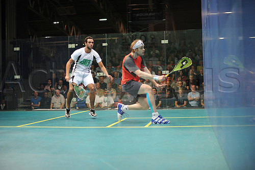 20.09.2010 ROWE British Squash Grand Prix, Manchester. Final: [2] Ramy Ashour (EGY) [white shirt] bt [5] James Willstrop (ENG)  11-7, 3-11, 11-3, 11-5 (40m).