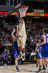 Devin Thomas (2) of the Wake Forest Demon Deacons lays the ball in the basket during first half action against the UNC Asheville Bulldogs at the LJVM Coliseum on November 14, 2014 in Winston-Salem, North Carolina.  The Demon Deacons defeated the Bulldogs 80-69  (Brian Westerholt/Sports On Film)
