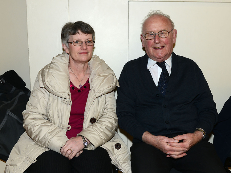 Margaret Watts and Tommy Reilly pictured at the Comhaltas Ceoltóirí Eireann Irish Night In aid of the Conor's Traynor Fund in Holy Family Community Centre