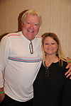 Wendy Madore with Guiding Light's Jerry verDorn as he hosts Bloss Brunch on October 8, 2017 - a part of the Guiding Light Daytime Stars and Strikes for Autism weekend at the Residence Inn, Secaucus, New Jersey. (Photo by Sue Coflin/Max Photo)