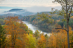 View of the Connecticut River from Windsor, Vermont, USA