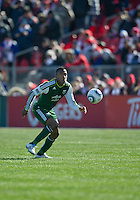 26 March 2011: Portland Timbers defender/midfielder Rodney Wallace #22 in action during an MLS game between the Portland Timbers and the Toronto FC at BMO Field in Toronto, Ontario Canada..Toronto FC won 2-0....