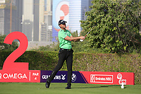 Robert Karlsson (SWE) on the 2nd tee during Round 3 of the Omega Dubai Desert Classic, Emirates Golf Club, Dubai,  United Arab Emirates. 26/01/2019<br /> Picture: Golffile | Thos Caffrey<br /> <br /> <br /> All photo usage must carry mandatory copyright credit (© Golffile | Thos Caffrey)