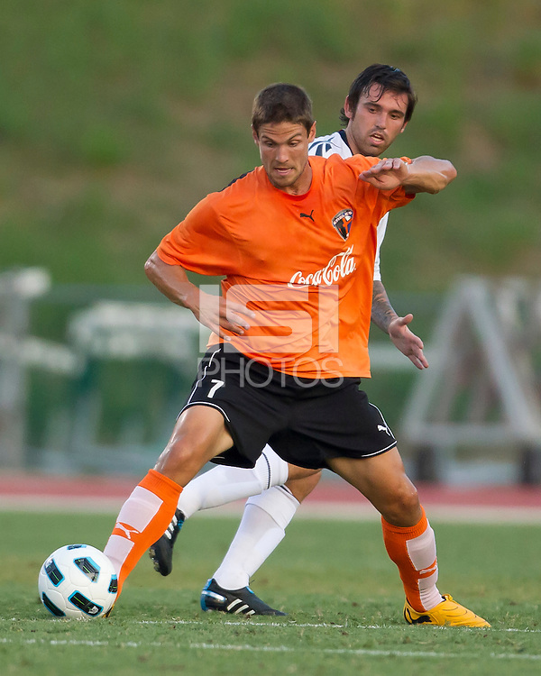 Chris Lemons of the Charlotte Eagles moves the ball forward.  The Charlotte Eagles currently in 3rd place in the USL second division play a friendly against the Bolton Wanderers from the English Premier League.