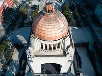 Monumento a la Revolucion. Aerial drone footage, Mexico City, Mexico