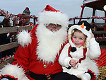Mya Reilly pictured with santa when he visited Julianstown Community Gardens. Photo:Colin Bell/pressphotos.ie