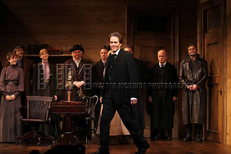 Boyd Gaines and ensemble during the Broadway Opening Night Performance Curtain Call for  'An Enemy of the People' at the Samuel J. Friedman Theatre in New York. Sept. 27, 2012