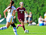 19 September 2010: Colgate University Raider midfielder Maddie Malone, a Junior from Glen Ridge, NJ, in action against the University of Vermont Catamounts at Centennial Field in Burlington, Vermont. The Raiders scored a pair of second half goals two minutes apart to notch a 2-0 victory over the Lady Cats in non-conference women's soccer play. Mandatory Credit: Ed Wolfstein Photo