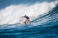 Namotu Island Resort, Nadi, Fiji (Wednesday, May 24 2017): Tyler Wright (AUS) - The wind  had dropped back this morning and swung back to South East Trades. It continued to drop through the day. The swell was still in the 4'-6' range with bigger sets. Cloudbreak was barreling through the inside, especially around the low tide but was crowded with big group of pro surfers, both male and female practising for the OK Fiji Pro which begins on Saturday. <br /> Lefts was very good and improved as the wind dropped. The current was very strong round the low tide. Pools also had some fun waves early afternoon before the Trades strengthen.  Photo: joliphotos.com