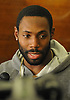 Antonio Cromartie #31 New York Jets cornerback speaks to the media in the locker room after team practice at the Atlantic Health Jets Training Jets Training Center in Florham Park, NJ on Wednesday, Dec. 30, 2015.