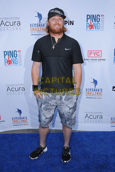 11 August 2016 - Los Angeles, California. Justin Turner. Clayton Kershaw's 4th Annual Ping Pong 4 Purpose Celebrity Tournament held at Dodger Stadium. <br /> CAP/ADM/BT<br /> &copy;BT/ADM/Capital Pictures