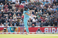 Chris Wakes (England) pulls square of the wicketduring England vs West Indies, ICC World Cup Cricket at the Hampshire Bowl on 14th June 2019
