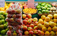 Fresh organic produce in a heath food grocery store.