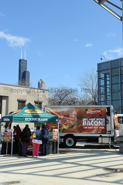 Eckrich Tabling Display outside of BaconFest 2013 in Chicago, IL