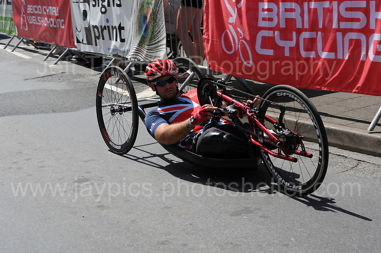 """Steven Arnold during the Abergavenny Festival of Cycling """"Para Grand Prix of Wales"""" race on Sunday 17th 2016<br /> <br /> <br /> Jeff Thomas Photography -  www.jaypics.photoshelter.com - <br /> e-mail swansea1001@hotmail.co.uk -<br /> Mob: 07837 386244 -"""