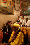Israel, Jerusalem Old City, Ethiopian Orthodox pilgrims at the Church of the Holy Sepulchre on Palm Sunday, Easter, 2005<br />