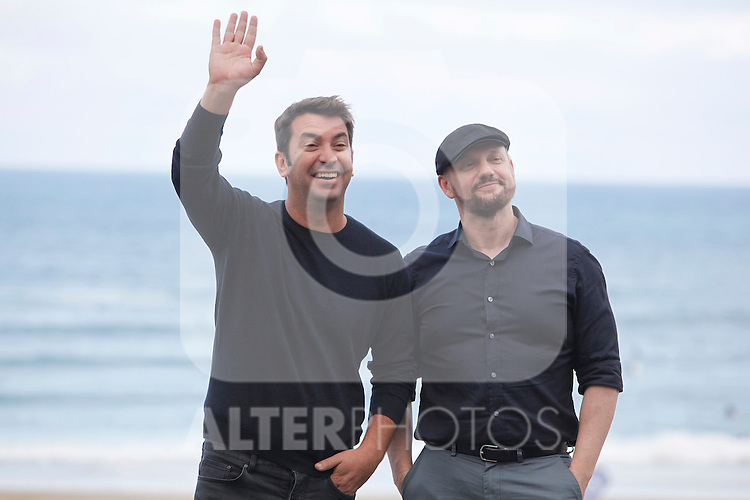 "Actor Arturo Vals and director Juan Jose Campanella present their new film ""Futbolin"" during the 61 San Sebastian Film Festival, in San Sebastian, Spain. September 20, 2013. (ALTERPHOTOS/Victor Blanco)"