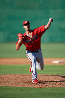 Mississippi Braves pitcher Kyle Muller (8) during a Southern League game against the Jackson Generals on July 23, 2019 at The Ballpark at Jackson in Jackson, Tennessee.  Jackson defeated Mississippi 2-0 in the first game of a doubleheader.  (Mike Janes/Four Seam Images)