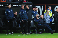 Steve Cooper Head Coach of Swansea City watches on during the Sky Bet Championship match between Swansea City and West Bromwich Albion at the Liberty Stadium in Swansea, Wales, UK. Saturday 07 March 2020