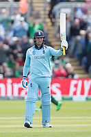 Jason Roy (England) acknowledges his 150 during England vs Bangladesh, ICC World Cup Cricket at Sophia Gardens Cardiff on 8th June 2019