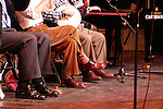 Woody Allen performing with his Band The New York Jazz Ensemble at the TEATRO SISTINA in  Rome, Italy..The Concert was an AIDS Benefit which raised over .50,000 euros..( Mr. Allen seen here wearing Mickey Mouse Socks ).December 12, 2004.© Walter McBride /