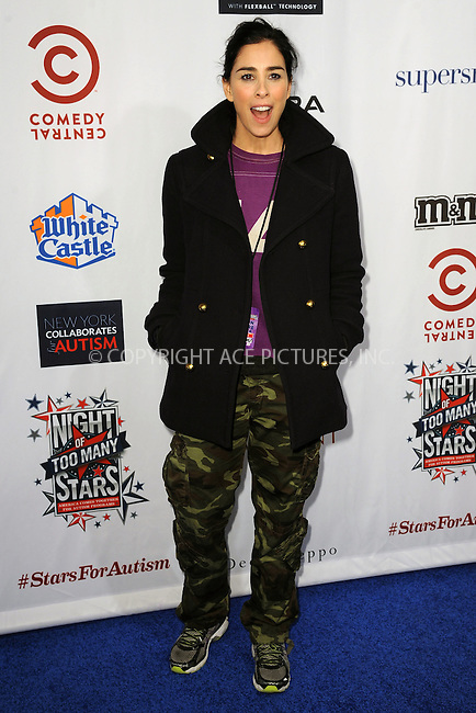 WWW.ACEPIXS.COM<br /> February 28, 2015 New York City<br /> <br /> Sarah Silverman attends Comedy Central Night Of Too Many Stars at Beacon Theatre on February 28, 2015 in New York City.<br /> <br /> Please byline: Kristin Callahan/AcePictures<br /> <br /> ACEPIXS.COM<br /> <br /> Tel: (646) 769 0430<br /> e-mail: info@acepixs.com<br /> web: http://www.acepixs.com