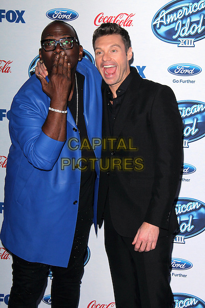 LOS ANGELES, CA - February 20: Randy Jackson, Ryan Seacrest at the American Idol XIII Finalists Party, Fig &amp; Olive, Los Angeles,  February 20, 2014. <br /> CAP/MPI/JO<br /> &copy;Janice Ogata/MediaPunch/Capital Pictures