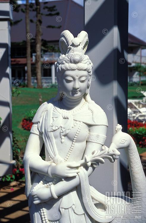 Statue of Quan Yin at the Lodge at Koele, Lanai City