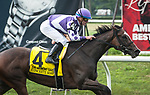July 6, 2019: Concrete Rose, ridden by Julien Leparoux, wins the 2019 running of the G1 Belmont Oaks Invitational. at Belmont Park in Elmont, NY. Sophie Shore/ESW/CSM