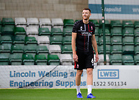 Lincoln City's Cian Bolger during the pre-match warm-up<br /> <br /> Photographer Chris Vaughan/CameraSport<br /> <br /> The EFL Sky Bet League One - Lincoln City v Fleetwood Town - Saturday 31st August 2019 - Sincil Bank - Lincoln<br /> <br /> World Copyright © 2019 CameraSport. All rights reserved. 43 Linden Ave. Countesthorpe. Leicester. England. LE8 5PG - Tel: +44 (0) 116 277 4147 - admin@camerasport.com - www.camerasport.com