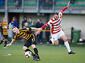 Alloa's Stephen Simmons and Hamilton's Darian MacKinnon collide.