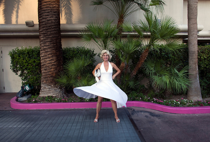 Melissa Weiss, a Marylin Monroe impersonator on the Las Vegas Strip.