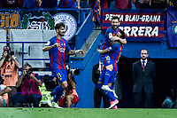 Leo Messi and Neymar Santos Jr of FC Barcelona celebrates after scoring a goal during the match of  Copa del Rey (King's Cup) Final between Deportivo Alaves and FC Barcelona at Vicente Calderon Stadium in Madrid, May 27, 2017. Spain.. (ALTERPHOTOS/Rodrigo Jimenez) /NortePhoto.com