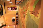 Wartime map planning invasion of Sicily, Lascaris War Rooms underground museum, Valletta, Malta