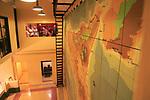 Wartime map planning invasion of Sicily, Lascaris War Rooms underground museum, Valletta, Malta