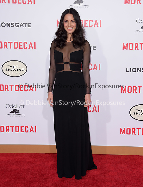Olivia Munn attends The Mortdecai Los Angeles Premiere held at The TCL Chinese Theater  in Hollywood, California on January 21,2015                                                                               © 2015 Hollywood Press Agency