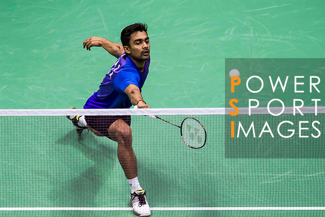 Sameer Verma of India competes against Angus Ng Ka Long of Hong Kong during their Men's Singles Final of YONEX-SUNRISE Hong Kong Open Badminton Championships 2016 at the Hong Kong Coliseum on 27 November 2016 in Hong Kong, China. Photo by Marcio Rodrigo Machado / Power Sport Images