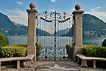Gate in the park on the lake in Lugano, Switzerland