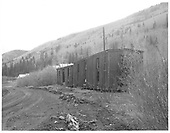 Old bunk cars in Rico yard.<br /> RGS  Rico, CO  Taken by Payne, Andy M. - 5/20/1967
