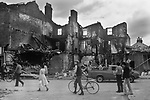 Toxteth Liverpool Lancashire 1981. The day after a night of rioting.