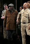 """Charles Fuller and David Alan Grier During the Broadway Opening Night Curtain Call Bows for The Roundabout Theatre Company's """"A Soldier's Play""""  at the American Airlines Theatre on January 21, 2020 in New York City."""
