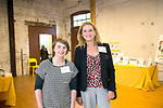 Winsted, CT-19, October 2017-101917CM04 Social moments from left Sarah Galgano of Torrington and Carie Hodel, board member on The Northwest Connecticut Arts Council are photographed during a CultureMIX event sponsored by The Northwest Connecticut Arts Council at the Mad River Lofts in Winsted on Thursday.   Christopher Massa Republican-American