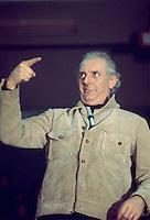 """- Dario Fo in the show """"Funny Mystery"""" (1976)....- Dario Fo nello spettacolo """"Mistero Buffo """" (1976)"""