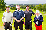 Sean O'Sullivan, Charlie Buckley, Ciaran O'Halloran and margaret O'Sullivan at the Killorglin basketball club golf classic in Killorglin golf club on Friday