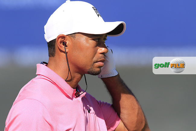 Tiger WOODS (USA) wired for sound on the range during Wednesday's Practice Day of the 2015 U.S. Open 115th National Championship held at Chambers Bay, Seattle, Washington, USA. 6/18/2015.<br /> Picture: Golffile | Eoin Clarke<br /> <br /> <br /> <br /> <br /> All photo usage must carry mandatory copyright credit (&copy; Golffile | Eoin Clarke)