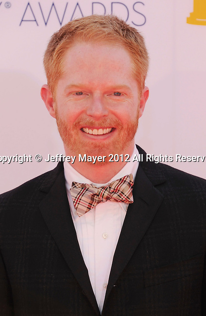 LOS ANGELES, CA - SEPTEMBER 23: Jesse Tyler Ferguson arrives at the 64th Primetime Emmy Awards at Nokia Theatre L.A. Live on September 23, 2012 in Los Angeles, California.