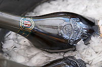 Bottles in ice bucket. Gratien & Meyer, Saumur, Anjou, Loire, France